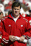 Madison, Wisconsin - 9/20/03. University of Wisconsin assistant coach Brian Murphy during the North Carolina game at Camp Randall Stadium. Wisconsin beat North Carolina 38-27 . (Photo by David Stluka)