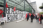 Blacklisting Ruins Lives. Blacklist Supprt Group picket the Department of Business, Innovation and Skills.