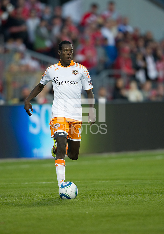 07 May 2011: Houston Dynamo midfielder Je-Vaughan Watson #10 in action during an MLS game between the Houston Dynamo and the Toronto FC at BMO Field in Toronto, Ontario..Toronto FC won 2-1.