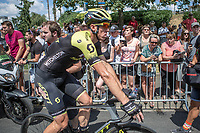 Matthew Hayman (AUS/Mitchelton Scott) showing some signs of a crash after crossing the finish line..<br /> <br /> Stage 1: Noirmoutier-en-l'&Icirc;le &gt; Fontenay-le-Comte (189km)<br /> <br /> Le Grand D&eacute;part 2018<br /> 105th Tour de France 2018<br /> &copy;kramon