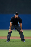 Umpire Kevin Levine during a NY-Penn League game between the Hudson Valley Renegades and Mahoning Valley Scrappers on July 15, 2019 at Eastwood Field in Niles, Ohio.  Mahoning Valley defeated Hudson Valley 6-5.  (Mike Janes/Four Seam Images)