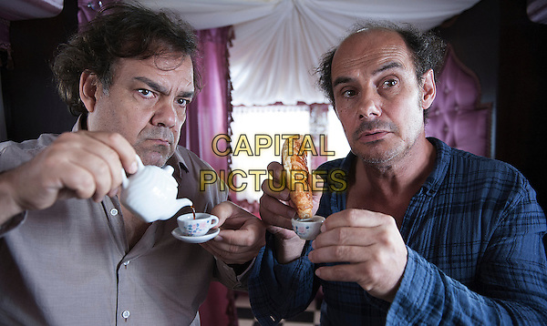 Didier Bourdon, Bernard Campan<br /> in Les trois freres, le retour (2014) <br /> *Filmstill - Editorial Use Only*<br /> CAP/NFS<br /> Image supplied by Capital Pictures