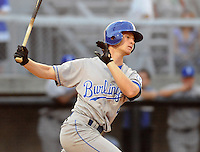 June 19, 2008: Outfielder Allen Caldwell of the Burlington Royals, rookie Appalachian League affiliate of the Kansas City Royals, in a game against the Danville Braves at Dan Daniel Memorial Park in Danville, Va. Photo by:  Tom Priddy/Four Seam Images