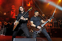 LONDON, ENGLAND - OCTOBER 3: Myles Kennedy and Mark Tremonti of 'Alter Bridge' performing at the Royal Albert Hall on October 3, 2017 in London, England.<br /> CAP/MAR<br /> &copy;MAR/Capital Pictures