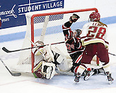 Corinne Boyles (BC - 29), Stephanie Gavronsky (Northeastern - 44), Kate Leary (BC - 28) - The Northeastern University Huskies defeated the Boston College Eagles in a shootout on Monday, January 31, 2012, in the opening round of the 2012 Women's Beanpot at Walter Brown Arena in Boston, Massachusetts. The game is considered a 1-1 tie for NCAA purposes.