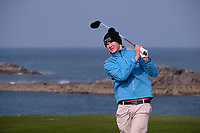 David Brady (MU) during the final of the Irish Students Amateur Open Championship, Tralee Golf Club, Tralee, Co Kerry, Ireland. 12/04/2018.<br /> Picture: Golffile | Fran Caffrey<br /> <br /> <br /> All photo usage must carry mandatory copyright credit (&copy; Golffile | Fran Caffrey)