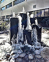 Frozen Fountain<br /> Duke's footprint extends beyond Durham. This frozen fountain is behind Duke Raleigh Hospital.  Part of Duke Medicine since 1998, this hospital first opened its doors as Mary Elizabeth Hospital in 1914.<br /> <br /> Michael Palko<br /> Informatics Educator<br /> Clinical Education &amp; Professional Development<br /> Duke University Health System<br /> 100 Golden Drive Durham, NC  27705<br /> michael.palko@duke.edu&lt;<br /> (919) 620-4996<br /> <br /> Want to learn more about iPhone photography?  Join me on February 18 @ noon in Bostock Library.<br /> [cropped-WideStagator-02]