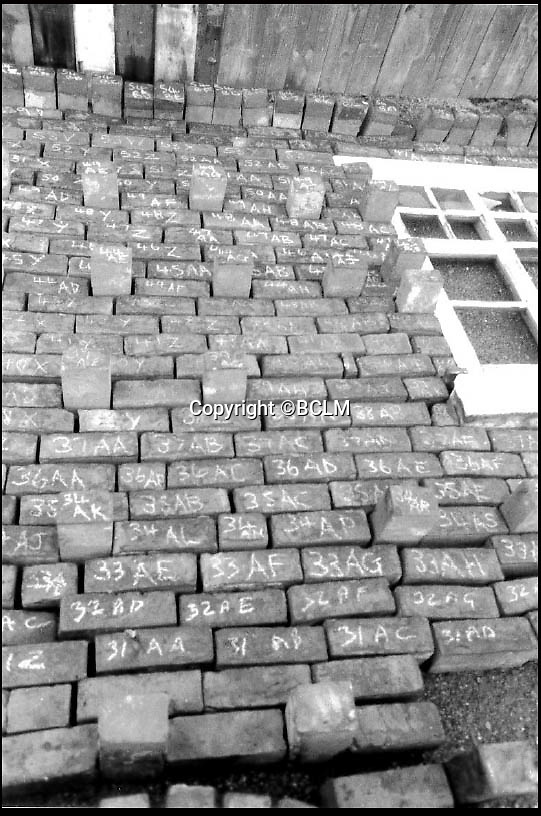 BNPS.co.uk (01202 558833)<br /> Pic: BCLM/BNPS<br /> <br /> Re-Open All Hours...<br /> <br /> The shops bricks were painstakingly laid out and individually marked.<br /> <br /> A greengrocers shop in a Victorian two up two down has been reunited with the family that once owned it after it was painstakingly rebuilt at the Black Country Living Museum in Dudley.<br /> <br /> The turn-of-the-century greengrocers shop has re-opened for business almost a 100 years after it served its first customers - and it is an exact replica of how it used to be.<br /> <br /> Plucky housewife Gertrude Adey transformed her modest front room into a fruit and veg shop in 1916 to earn a few shillings so she could survive while husband William was off fighting in the First World War.<br /> <br /> In 1995 the historic building was demolished to pave the way for a new development in the town centre but 98 years after it first opened the shop is back in business after it was lovingly rebuilt brick by brick.<br /> <br /> The humble shop will only sell produce that was available at the time and any left over fruit and veg will be turned into pickles, chutneys and jams, just like it would have been back in the early 20th century.<br /> <br /> And staff will even be dressed in plain period clothing just as William and Gertrude would have worn. <br /> <br /> The opening of the time-warp shop is the culmination of a project by local historians who rebuilt the shop in the grounds of the Black Country Living open air museum.<br /> <br /> Three generations of the Adey family - William's grandson Jim, 85, great grandson Andrew, 54, and great-great granddaughter Melanie, 22 - officially opened the shop on Saturday.