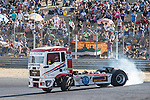 Spanish driver David Marco Bermejo belonging Spanish team David Marco Bermejo  during the fist race R1 of the XXX Spain GP Camion of the FIA European Truck Racing Championship 2016 in Madrid. October 01, 2016. (ALTERPHOTOS/Rodrigo Jimenez)