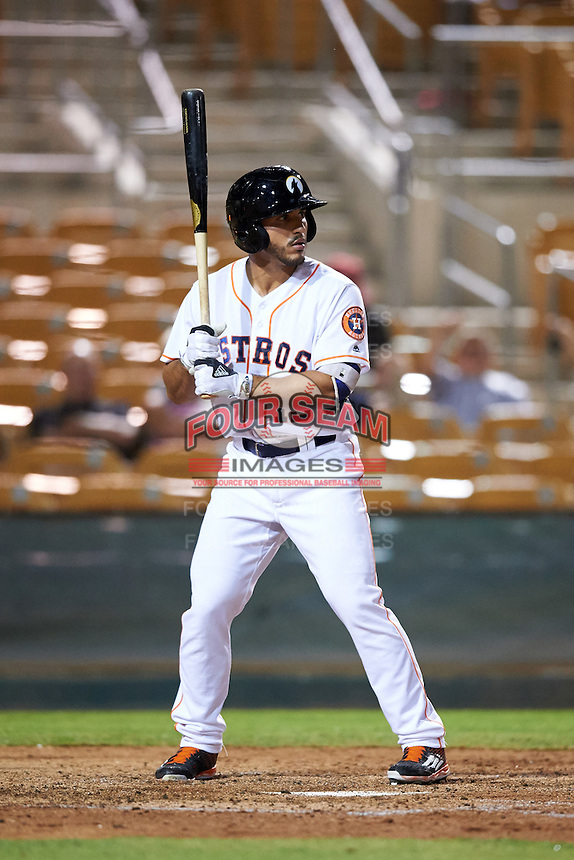 Glendale Desert Dogs Ramon Laureano (15), of the Houston Astros organization, during a game against the Salt River Rafters on October 19, 2016 at Camelback Ranch in Glendale, Arizona.  Salt River defeated Glendale 4-2.  (Mike Janes/Four Seam Images)
