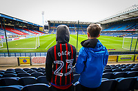 Young Blackburn Rovers fans arrive early at Ewood Park<br /> <br /> Photographer Alex Dodd/CameraSport<br /> <br /> The EFL Sky Bet Championship - Blackburn Rovers v Queens Park Rangers - Saturday 3rd November 2018 - Ewood Park - Blackburn<br /> <br /> World Copyright &copy; 2018 CameraSport. All rights reserved. 43 Linden Ave. Countesthorpe. Leicester. England. LE8 5PG - Tel: +44 (0) 116 277 4147 - admin@camerasport.com - www.camerasport.com