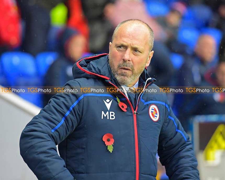 Reading Manager Mark Bowen during Reading vs Luton Town, Sky Bet EFL Championship Football at the Madejski Stadium on 9th November 2019