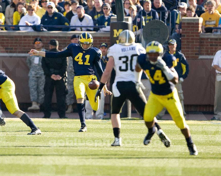 University of Michigan football loss (38-36) to Purdue at Michigan Stadium on 11/7/09.