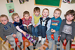 Children from the childcare facilities at Ballyspillane Family Resource Centre were on hand to celebrate the first birthday of the service last week. .L-R Billy Breen, Ester Green, Sean Dowling, Declan Grimes, Shane Casey, Sean Slabys, and Erin McGough