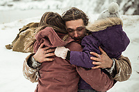Jason Momoa, Jill Wagner & Sasha Rossof<br /> Braven (2018)<br /> *Filmstill - Editorial Use Only*<br /> CAP/RFS<br /> Image supplied by Capital Pictures