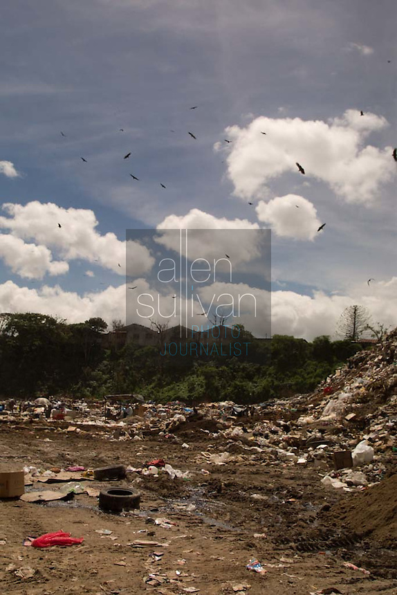 A massive trash dump in Guatemala City, Guatemala.