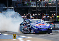 Jun 19, 2016; Bristol, TN, USA; NHRA pro stock driver Jason Line during the Thunder Valley Nationals at Bristol Dragway. Mandatory Credit: Mark J. Rebilas-USA TODAY Sports