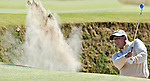 13TH JULY 2010, OPEN GOLF CHAMPIONSHIP 2010 AT ST. ANDREWS, COLIN MONTGOMERIE PLAYS OUT OF A BUNKER, ROB CASEY PHOTOGRAPHY.