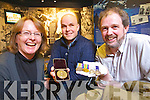 Pictured at the presentation of a sleeping bag and medals to the Kerry County Museum on Friday are from left: Helen O'Carroll, Mark Pollock, and Mike O'Shea.