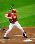 6 June 2010: Washington Nationals' outfielder Josh Willingham in action against the Cincinnati Reds at Nationals Park in Washington, DC. The Reds edged out the Nationals 5-4 in a ten inning game. Mandatory Credit: Ed Wolfstein Photo