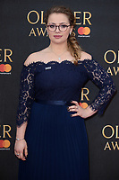 Carrie Hope Fletcher arriving for the Olivier Awards 2018 at the Royal Albert Hall, London, UK. <br /> 08 April  2018<br /> Picture: Steve Vas/Featureflash/SilverHub 0208 004 5359 sales@silverhubmedia.com