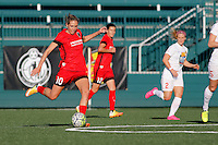 Rochester, NY - Friday June 17, 2016: Portland Thorns FC midfielder Allie Long (10) during a regular season National Women's Soccer League (NWSL) match between the Western New York Flash and the Portland Thorns FC at Rochester Rhinos Stadium.