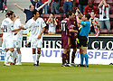 12/08/2006        Copyright Pic: James Stewart.File Name : sct_jspa20_motherwell_v_aberdeen.MOTHERWELL PLAYERS COMPLAIN TO REFEREE STEVEN CONROY AS DARREN MACKIE CELEBRATES SCORING ABERDEEN'S SECOND.......Payments to :.James Stewart Photo Agency 19 Carronlea Drive, Falkirk. FK2 8DN      Vat Reg No. 607 6932 25.Office     : +44 (0)1324 570906     .Mobile   : +44 (0)7721 416997.Fax         : +44 (0)1324 570906.E-mail  :  jim@jspa.co.uk.If you require further information then contact Jim Stewart on any of the numbers above.........