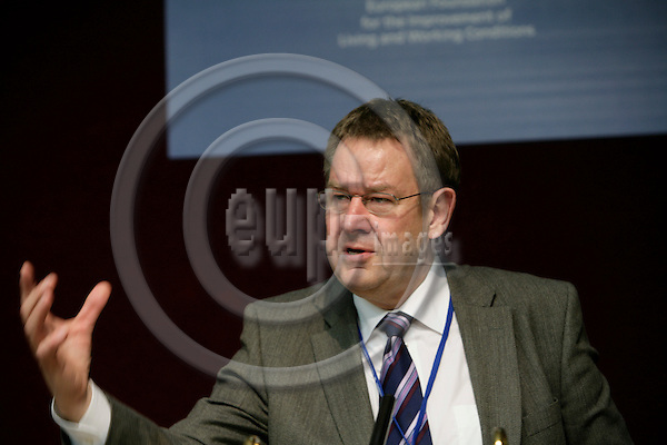 DUBLIN - IRELAND - 02 NOVEMBER 2006 -- MEP Poul NYRUP RASMUSSEN at the EUROFOUND Foundation Forum on Competitive Europe - Social Europe, Partners or Rivals.   PHOTO: ERIK LUNTANG / EUP-IMAGES