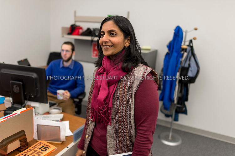3/13/2014&mdash;Seattle, WA, USA<br /> <br /> Seattle city council member Kshama Sawant in her office at City Hall. Seattle is debating whether or not to raise the city&rsquo;s minimum wage to $15. The recently elected council member, Sawant is a member of the Socialist Alternative Party. She has moved from her role as an activist in the fight for higher wages to working for a citywide $15 minimum wage inside City Hall Seattle. <br /> <br /> Photograph by Stuart Isett<br /> &copy;2014 Stuart Isett. All rights reserved.