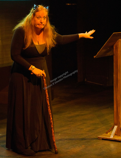 Mary Bennett jokes with the audience during the Take 5 fundraiser at the Bruka Theatre on Saturday night, Jan. 13, 2018.