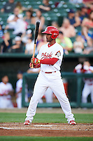 Peoria Chiefs second baseman Eliezer Alvarez (15) during a game against the Dayton Dragons on May 6, 2016 at Dozer Park in Peoria, Illinois.  Peoria defeated Dayton 5-0.  (Mike Janes/Four Seam Images)