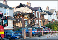 BNPS.co.uk (01202 558833)<br /> Pic: RogerArbon/BNPS<br /> <br /> The scene of the explosion on Sterte Road in Poole last year.<br /> <br /> A vengeful husband who almost killed himself and his ex-wife when he blew up their house out of spite is due to be sentenced today.<br /> <br /> Ian Clowes, 67, has previously pleaded guilty to a charge of arson in connection with the huge gas explosion that ripped apart the semi-detached property in Poole, Dorset, last October.
