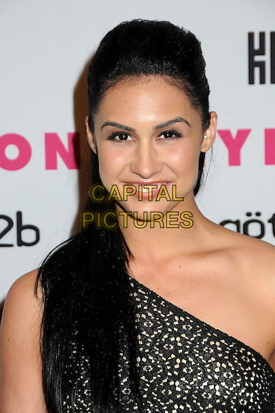 LAUREN GOTTLIEB.Nylon Magazine's Young Hollywood Party held at the Roosevelt Hotel's Tropicana Bar, Hollywood, California, USA..May 12th, 2010.headshot portrait black lace one shoulder.CAP/ADM/BP.©Byron Purvis/AdMedia/Capital Pictures.
