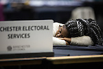 © Joel Goodman - 07973 332324 . 24/06/2016 . Manchester , UK . Ballot counter at the EU referendum at Manchester Central Convention Centre . Photo credit : Joel Goodman