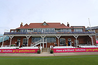 General view of the pavilion ahead of Yorkshire CCC vs Essex CCC, Specsavers County Championship Division 1 Cricket at Scarborough CC, North Marine Road on 6th August 2017