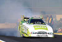 Mar 15, 2015; Gainesville, FL, USA; NHRA funny car driver John Hale during the Gatornationals at Auto Plus Raceway at Gainesville. Mandatory Credit: Mark J. Rebilas-