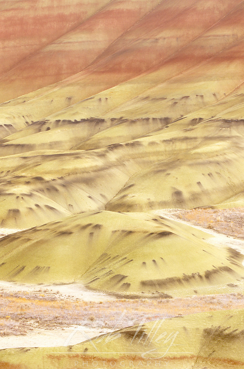 USA, Oregon, John Day Fossil Beds NM, Painted Hills Abstract