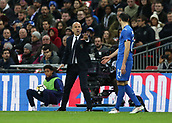 27th March 2018, Wembley Stadium, London, England; International Football Friendly, England versus Italy; Italy caretaker manager Luigi Di Biagio giving instructions to Federico Chiesa of Italy from the touchline