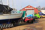 Robertsons Boatyard, River Deben, Melton near Woodbridge, Suffolk, UK