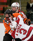 Louis Leblanc (Harvard - 20), Mark Magnowski (Princeton - 14), Alex Biega (Harvard - 3) - The Princeton University Tigers defeated the Harvard University Crimson 2-1 on Friday, January 29, 2010, at Bright Hockey Center in Cambridge, Massachusetts.