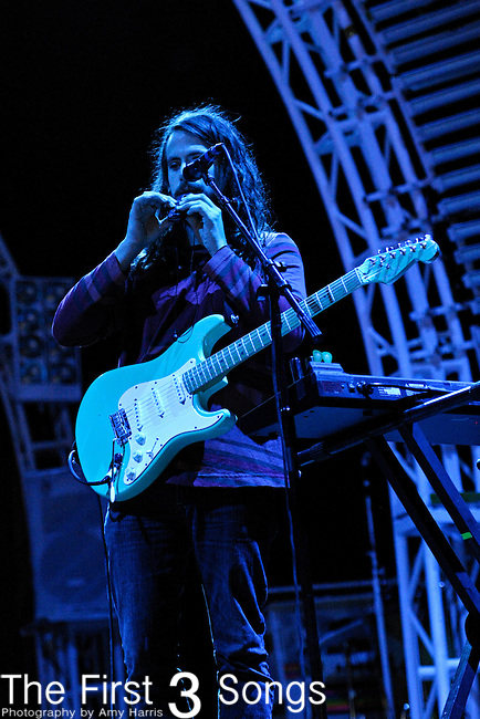 James Richardson of MGMT performs during the Beale Street Music Festival in Memphis, TN on April 29, 2011.
