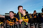Kieran O'Leary, Eoin Brosnan and Gavin O'Shea Dr Crokes celebrate after winning the Kerry County Senior Club Football Championship Final match between Dr Crokes and Dingle at Austin Stack Park in Tralee, Kerry on Sunday.