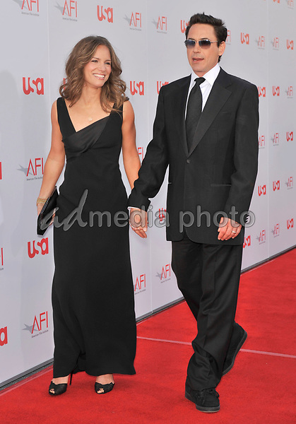 12 June 2008 - Hollywood, California - Robert Downey Jr. and Susan Downey. 36th AFI Life Achievement Award tribute to Warren Beatty held at the Kodak Theatre. Photo Credit: Jaguar/AdMedia