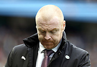 Burnley manager Sean Dyche looks dejected<br /> <br /> Photographer Rich Linley/CameraSport<br /> <br /> Emirates FA Cup Fourth Round - Manchester City v Burnley - Saturday 26th January 2019 - The Etihad - Manchester<br />  <br /> World Copyright © 2019 CameraSport. All rights reserved. 43 Linden Ave. Countesthorpe. Leicester. England. LE8 5PG - Tel: +44 (0) 116 277 4147 - admin@camerasport.com - www.camerasport.com