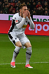10.03.2018, BayArena, Leverkusen , GER, 1.FBL., Bayer 04 Leverkusen vs. Borussia Moenchengladbach<br /> im Bild / picture shows: <br /> Josip Drmic (Gladbach #18),  verschiesst <br /> <br /> <br /> Foto © nordphoto / Meuter