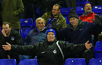 Oldham Athletic fans enjoy the pre-match atmosphere ahead of the Sky Bet League 1 match between Oldham Athletic and AFC Wimbledon at Boundary Park, Oldham, England on 21 November 2017. Photo by Juel Miah/PRiME Media Images