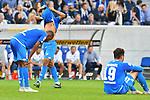07.10.2018, wirsol Rhein-Neckar-Arena, Sinsheim, GER, 1 FBL, TSG 1899 Hoffenheim vs Eintracht Frankfurt, <br /> <br /> DFL REGULATIONS PROHIBIT ANY USE OF PHOTOGRAPHS AS IMAGE SEQUENCES AND/OR QUASI-VIDEO.<br /> <br /> im Bild: Frust bei Joelinton (TSG Hoffenheim #34), Reiss Nelson (TSG Hoffenheim #9), Ishak Belfodil (TSG Hoffenheim #19)<br /> <br /> Foto &copy; nordphoto / Fabisch
