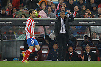 11.04.2012 MADRID, SPAIN - La Liga match played between At. Madrid vs Real Madrid (1-4) with hat-trick of Cristiano Ronaldo at Vicente Calderon stadium. The picture show Diego Pablo Simeone coach of Atletico de Madrid