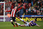 John Fleck of Sheffield Utd  tackled by Josh Cullen of Bolton Wanderers during the Championship match at Bramall Lane Stadium, Sheffield. Picture date 30th December 2017. Picture credit should read: Simon Bellis/Sportimage