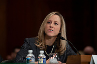 CFPB Director Kathy Kraninger testifies to the Senate Banking Committee on Capitol Hill in Washington, D.C. on March 12, 2019. Credit: Alex Edelman / CNP/AdMedia